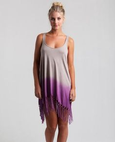 DEL SOL COVER UP // elephant skin -  The summer is calling your name and so is this ultra cool cover-up with knotted fringe hem