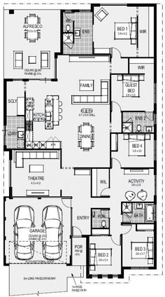 bathroom he Athens Floorplan House Layout Plans, Duplex House Plans, Bedroom House Plans, New House Plans, Dream House Plans, Small House Plans, House Layouts, House Floor Plans, Building A New Home