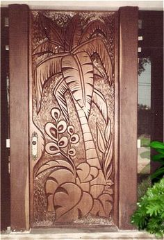 64 Ideas wooden door carved entrance for 2019 Wooden Main Door Design, Door Gate Design, Latest Door Designs, Barn Door Decor, Unique Doors, Wooden Doors, Carving, Fence Planters, Carved Wood