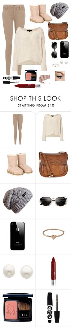 """""""At the mall"""" by thatgrilygirl ❤ liked on Polyvore featuring 7 For All Mankind, rag & bone, UGG Australia, Armani Jeans, Catbird, Reeds Jewelers, OPI, Christian Dior and Rimmel"""