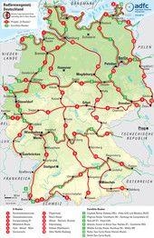 Übersicht über das Radnetz für Deutschland