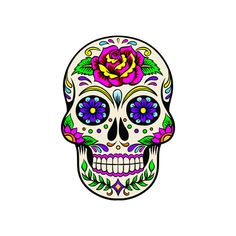 Sugar Skull  Calaveras de Azúcar  Dia de los Muertos  por SoSticky, $3.50