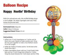 Happy Hootin' Birthday — Balloon bouquet for your owl-themed birthday bash.