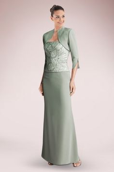 Noble, Slimming, Two Pieces Strapless Mother of the Bride Dress