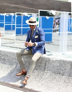 Fashion from outside the international men's trade show at Pitti Uomo.