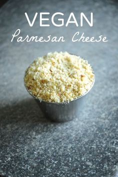 Takes only 2 minutes to make! Toss ¼ cup nutritional yeast, 1 cup raw almonds (… Takes only 2 minutes to make! Toss ¼ cup nutritional yeast, 1 cup raw almonds (unsalted) & 1 tsp salt into a food processor/blender and blend! Wasn't that fast? Vegan Cheese Recipes, Vegan Sauces, Raw Vegan Recipes, Vegan Foods, Vegan Dishes, Dairy Free Recipes, Parmesan Recipes, Vegan Raw, Almond Cheese Recipe