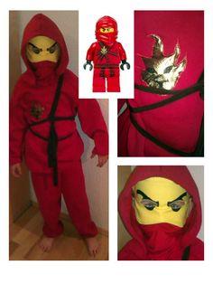 Ninjago costume, the red Ninja (Kai).