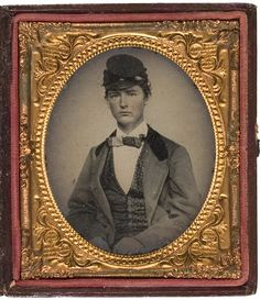 Sixth Plate Ambrotype of Confederate Color-Bearer Ensign John J. Cherry, 3rd Mis - Cowan's Auctions