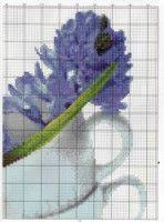 Gallery.ru / Фото #189 - TRIPTYCH - Ninicol Cross Stitch, Blue, Flowers, Manualidades, Punto De Cruz, Seed Stitch, Cross Stitches, Crossstitch, Punto Croce