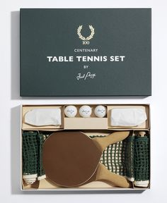 To know more about FRED PERRY Centenary Table Tennis Set, visit Sumally, a social network that gathers together all the wanted things in the world! Featuring over 899 other FRED PERRY items too! Fred Perry, Ok Design, Graphic Design, Design Concepts, Cover Design, Brand Packaging, Packaging Design, Organic Packaging, Paper Packaging