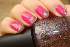 OPI Pink Glitter Gradient