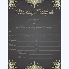 Marriage Certificate #marriage #certificate #certificateofmarriage