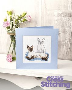 Pet of the Month - cross stitch pattern. Have you seen the latest in our special reader request series? Pet of the Month... we've created a pair of sweet Siamese kitties just for you. Stitch them using issue of The World of Cross Stitching magazine, issue 226