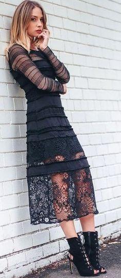 Black Lace + Black Leather                                                                             Source