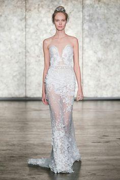 e6120b8feb6a Inbal Dror showed her latest wedding dresses at Bridal Fashion Week. See  Inbal Dror s fall 2018 wedding dresses here.
