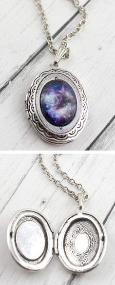 Galaxy Locket Necklace  ♥