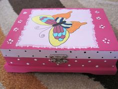 Páginas de cor da Luna: Kids jewellery box - top