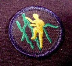 "Patch Badge Boy Scouts Climbing, 1 1/2"" Across, Scouting, Cubs, Beavers, Boy Scouts"