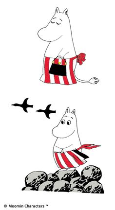 Moominmamma is a calm and collected mother who never lets little things get on her nerves. She ensures that the Moominhouse is always a safe and loving place Moomin Shop, Moomin Mugs, Moomin Valley, Tove Jansson, Cartoon Images, Easy Drawings, Manga Art, All Art, Cute Art