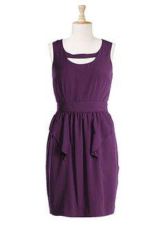 #eshakti #retrofashion #plusfashion #plussize #sleeveless #purple #sheathdress #vintage