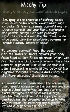 Witchy tip Smudging Magick Spells, Wicca Witchcraft, Healing Spells, Auras, Tarot, Reiki, Every Witch Way, Witch Board, Herbal Magic