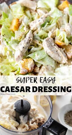 This Homemade Caesar Dressing Recipe is quick, easy and so much better than store bought. With a few simple ingredients you can make this Creamy Caesar Salad Dressing and adjust the ingredients to fit your personal preference. #caesardressing #homemadecaesardressing #dressingrecipes #saladrecipes #caesarsalad #healthyrecipes