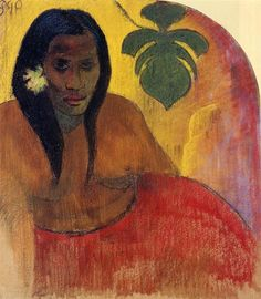 Tahitian Woman, 1894 Paul Gauguin - Technique - pastel