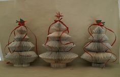 Book folded Christmas Trees