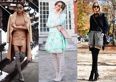 Ideas for ways to wear Over-The-Knee Boots, since I keep ending up with my skirts tucked into them when I walk!