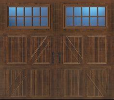 Garage Door - Amarr Classica 200 Lucern with Maderia Windows in Walnut