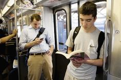 """On the """"L,"""" e-books change spy game: Mapping what a city reads through public transportation"""