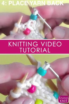 Knit Beads into any project! This easy knitting technique works great for pretty much any knit stitch pattern. Knit Beads into any project! This easy knitting technique works great for pretty much any knit stitch pattern.Easily Knit Beads Into Any Project Knitting Help, Knitting Videos, Knitting For Beginners, Loom Knitting, Knitting Stitches, Kids Knitting, Knitting Charts, Knitting Socks, Easy Crochet