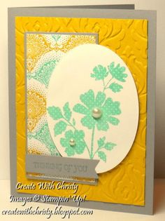 Thinking of You by StampinChristy - Cards and Paper Crafts at Splitcoaststampers