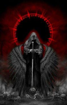 "melodiezmelz: ""Dark Angel by djwwinters "" Dark Angel Wallpaper, Gothic Wallpaper, Skull Wallpaper, Iphone Wallpaper, Trendy Wallpaper, Dark Fantasy Art, Fantasy Artwork, Dark Gothic Art, Fantasy Art Angels"