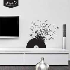 Vinyl Record Wall Decal - Music Wall Decal - Wall Graphics - Vinyl Wall Sticker - ON SALE NOW until 30th April