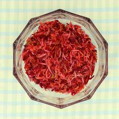 From SAVEUR Issue #163This stunning red salad gets its color from raw shredded beets, which mix with crunchy carrots and sweet-tart apples to make a crisp accompaniment for pork chops.