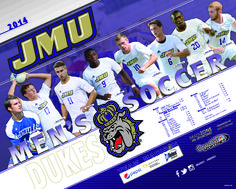 The 2014 JMU men's soccer schedule poster! Click to download the full version.