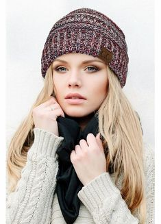 730c3251790e4 Red White and Blue with Silver Metallic CC Beanie Hat