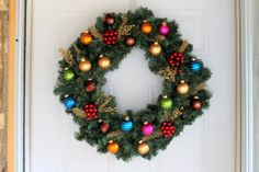 Christmas Ornament Wreath // evergreen and by colorsoncanvas