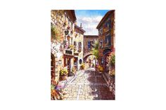 Puzzle Bluebird - Eze Village, 1.000 piese (70056) Blue Bird, Puzzle, Cabinet, Painting, Art, Jelly Cupboard, Art Background, Puzzles, Riddles