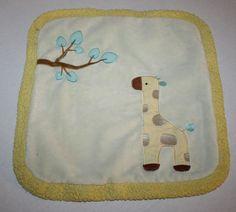 "Russ Berrie Jungleloo Giraffe mini Security Blanket Yellow Ivory 13"" Plush 35155 #Russ"