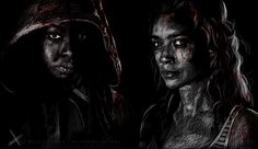 Continued my The Walking Dead series. Michonne (Danai Gurira) and Andrea (Laurie Holden) SEE MORE Rick & Carl Carol & Daryl The Walking Dead cast: Michonne/Andrea Walking Dead Tv Show, Walking Dead Series, Fear The Walking Dead, Rick And Carl, Laurie Holden, Zombie Movies, Walk The Earth, Tv Guide, Daryl Dixon