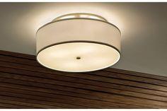 Tech Lighting Mulberry White Drum Shade Ceiling Light