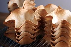 How to Make Tortilla Bowls & Cups in a variety of sizes. Detailed photos make this easy method foolproof. TheYummyLife.com