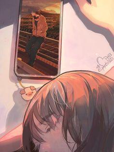 Anime Girl Crying, Sad Anime Girl, Anime Art Girl, Cute Couple Cartoon, Cute Love Cartoons, Anime Drawings Sketches, Anime Couples Drawings, Chica Anime Manga, Kawaii Anime