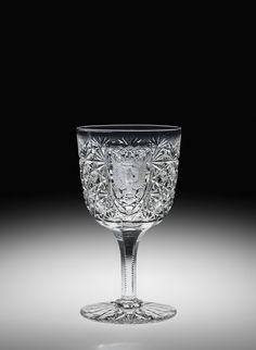 Dorflinger cut glass goblet.