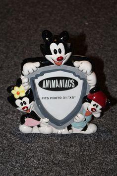 RARE! Warner Brothers ANIMANIACS YAKKO WAKKO & DOT Photo Picture Ceramic Frame    eBay