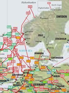 Norway, Sweden and Denmark Oil  Gas Pipelines Map