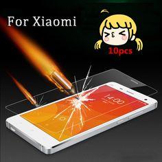 10pcs 0.3mm 9h Tempered Glass Screen Protector Film For Xiaomi mi 3 mi 4 mi 4c redmi 2 3 redmi note 2 note 3 pro for xiaomi case
