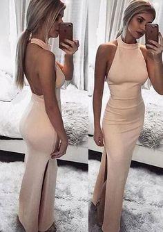 Sexy pink prom dress,cheap prom dress,sexy prom dress,stain